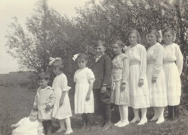 My Grandpa is second from the left. The 3 younger girls were killed in the accident